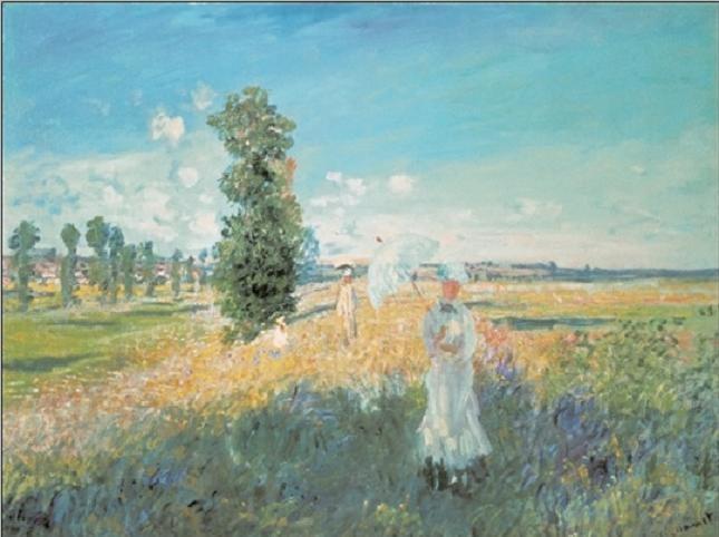The Walk, 1875 Festmény reprodukció