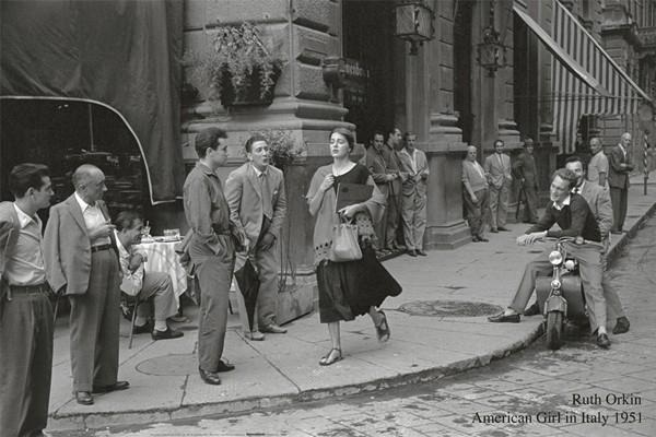 American girl in Italy, 1951 Reprodukcija umjetnosti