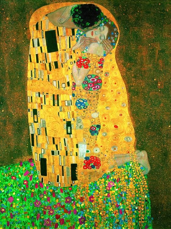 Gustav Klimt - Il Bacio Reprodukcija umjetnosti