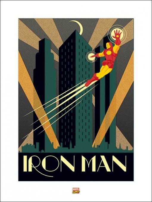 Marvel Deco - Iron Man Reprodukcija umjetnosti