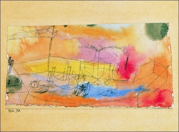 P.Klee - Der Fish Im Ahfen Reprodukcija umjetnosti