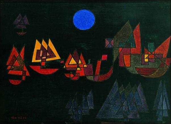 P.Klee - Schiffe Im Dunkeln Reprodukcija umjetnosti