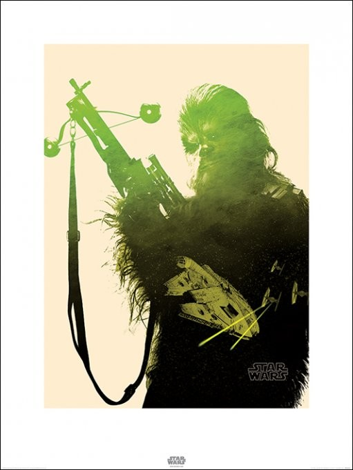 Star Wars Episode VII: The Force Awakens - Chewbacca Tri Reprodukcija umjetnosti