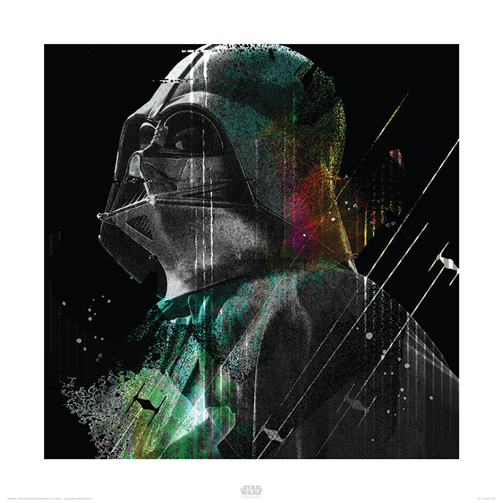 Star Wars Rogue One - Darth Vader Lines Reprodukcija umjetnosti