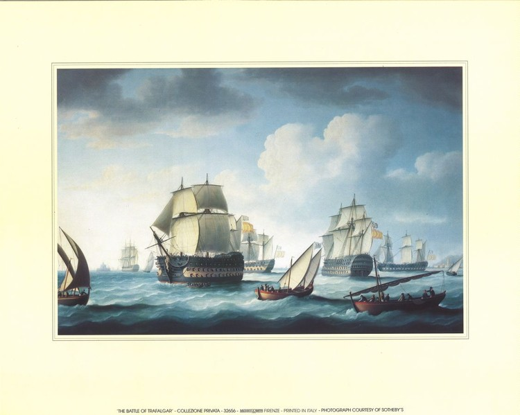 The Battle Of Trafalgar Reprodukcija umjetnosti