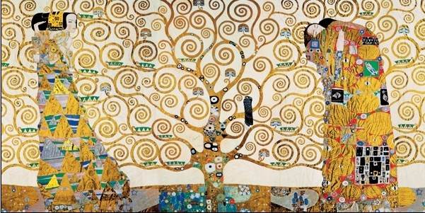 The Tree Of Life, The Fulfillment (The Embrace), The Waiting - Stoclit Frieze, 1909 Reprodukcija umjetnosti