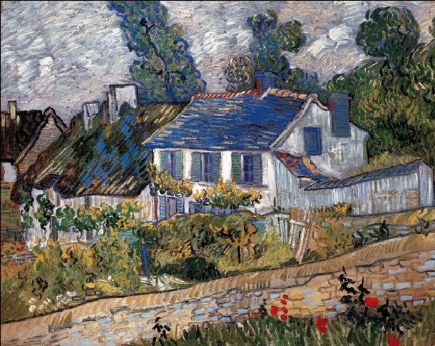 Houses in Auvers, 1890 Reprodukcija