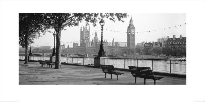 Houses of Parliament & The River Thames Reprodukcija