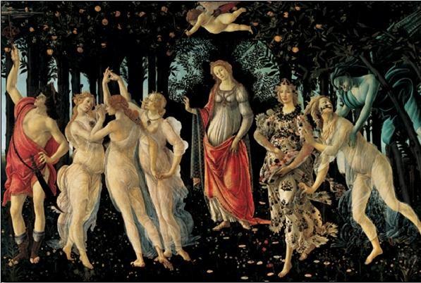 Primavera - The Allegory of Spring Reprodukcija