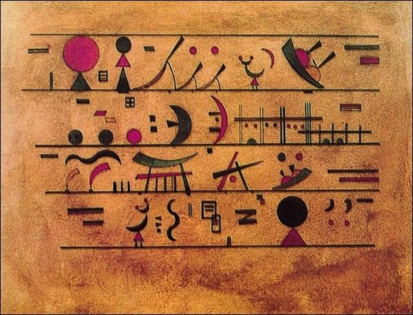 Righe di segni - Rows of Signs Reprodukcija