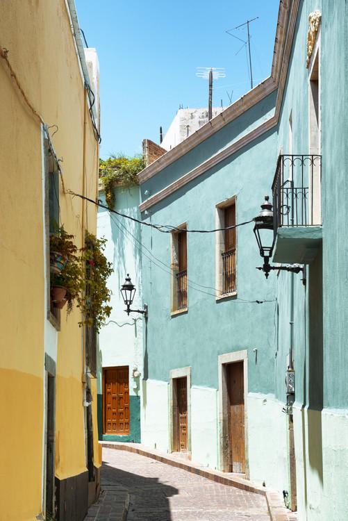 Colorful Street - Guanajuato Tableau sur Toile