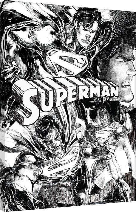 Superman - Sketch Tableau sur Toile