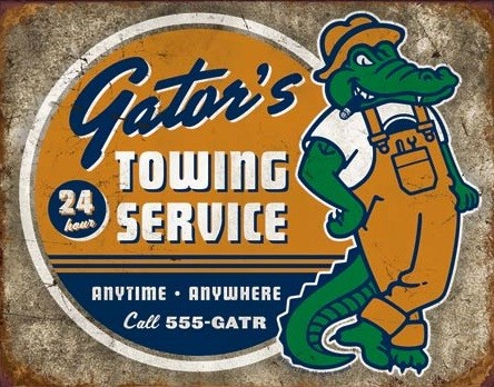 Torque - Gator's Towing Metalen Wandplaat