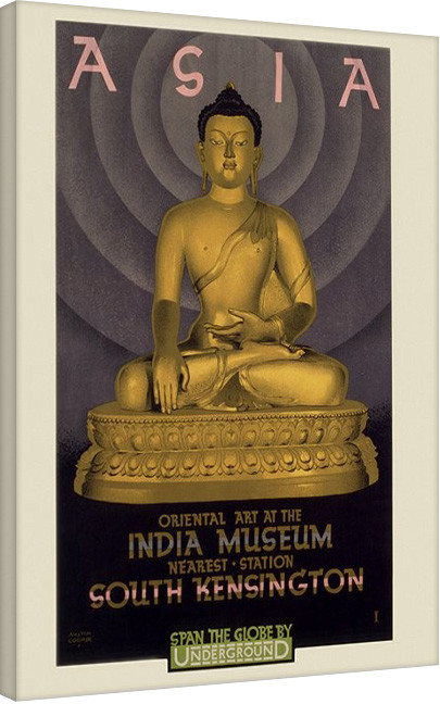 Stampa su Tela Transport For London- Asia, India Museum, 1930
