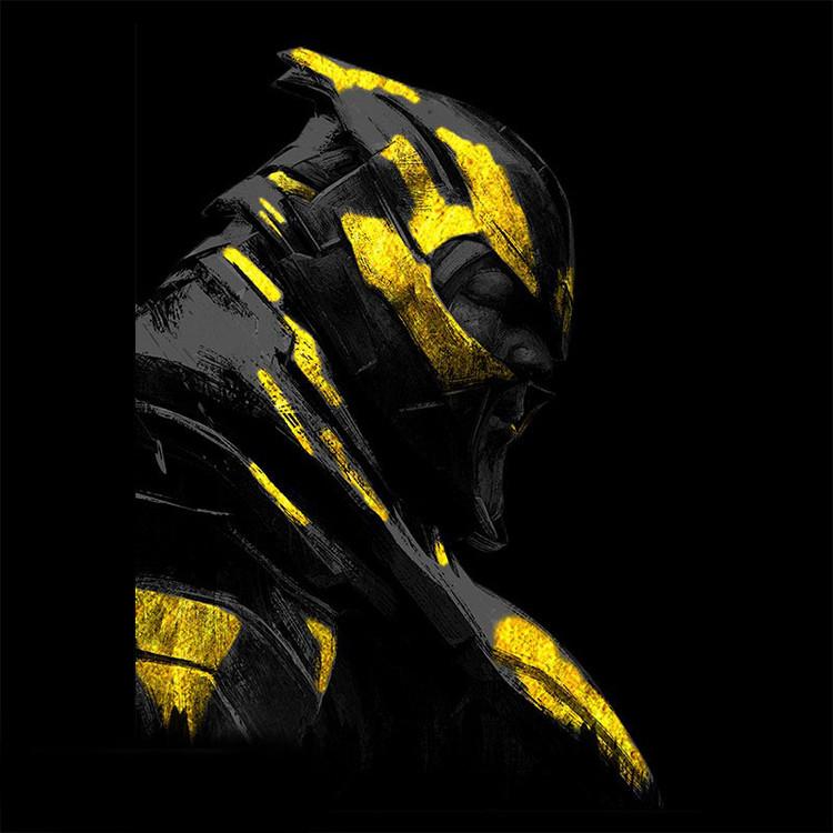 Tričko Avengers: Endgame - Gold Thanos