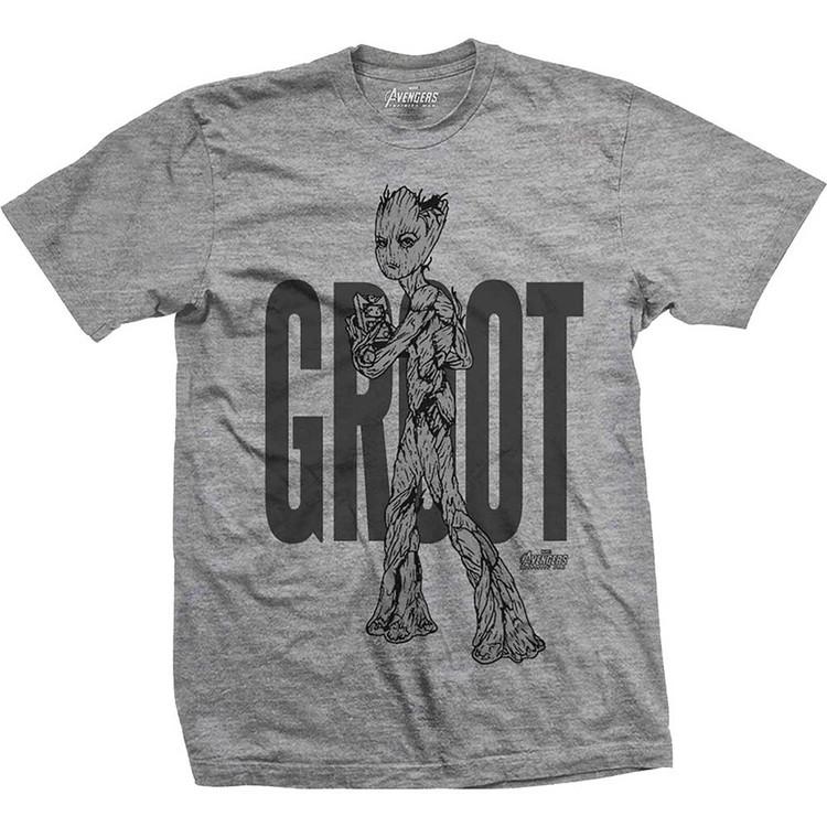 Tričko  Avengers - Infinity War Teen Groot Line Art