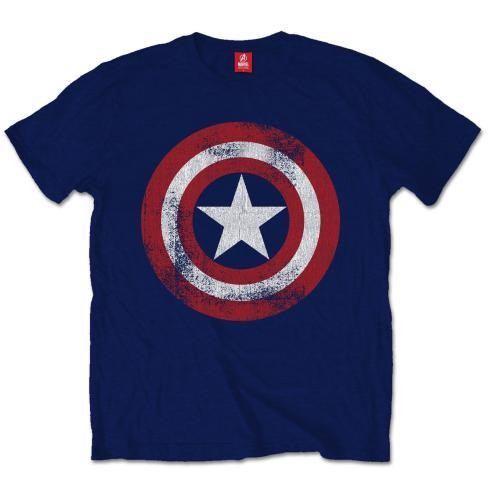 Captain America - Distress Shield Tricou