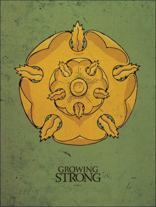 Trónok harca - Game of Thrones - Tyrell Festmény reprodukció