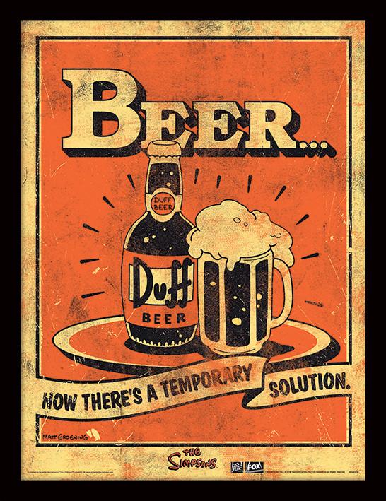A Simpson család - Beer… Keretezett Poszter