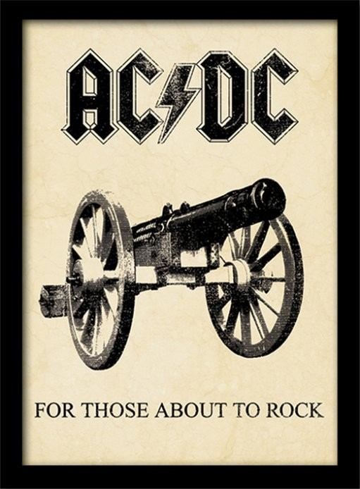 AC/DC - for those about to rock Keretezett Poszter