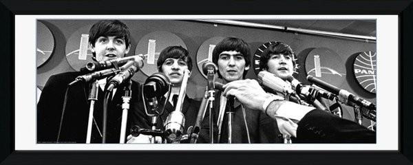 Beatles - interwiew üveg keretes plakát