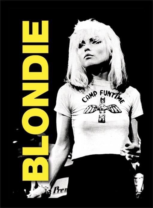 Blondie - live üveg keretes plakát