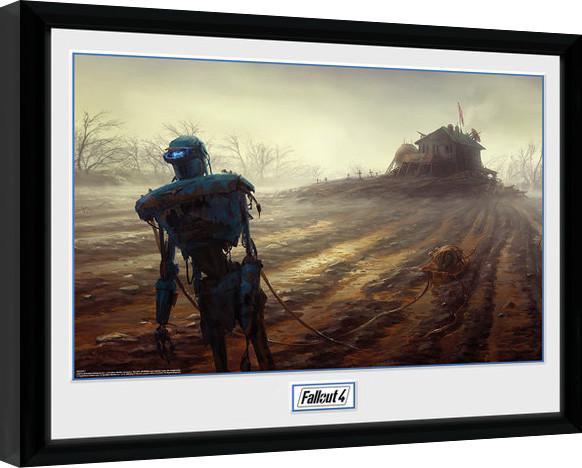 Fallout 4 - Farming Robot Keretezett Poszter