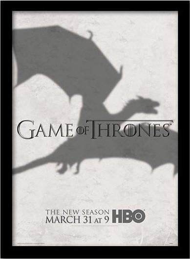 GAME OF THRONES 3 - shadow üveg keretes plakát