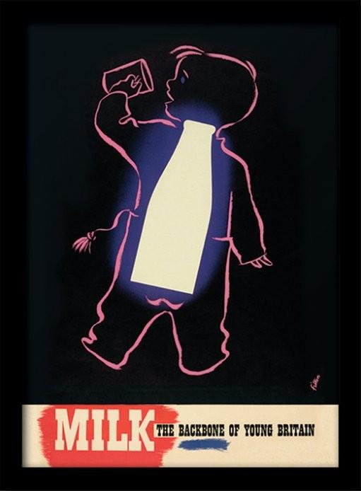 IWM - Milk üveg keretes plakát