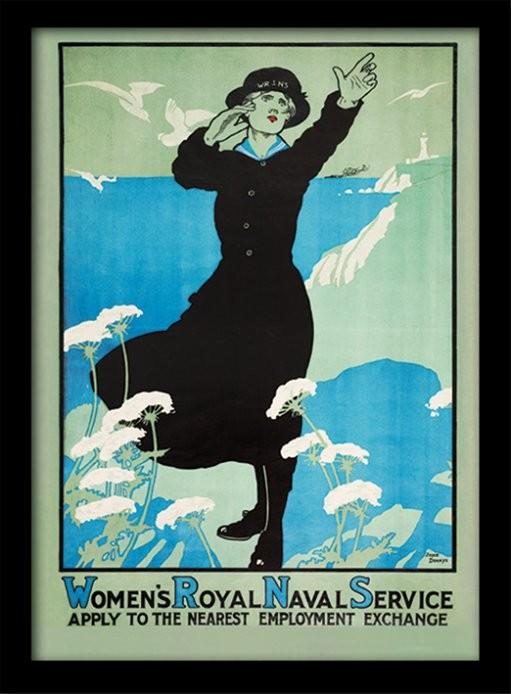 IWM - Womens Royal Navy üveg keretes plakát