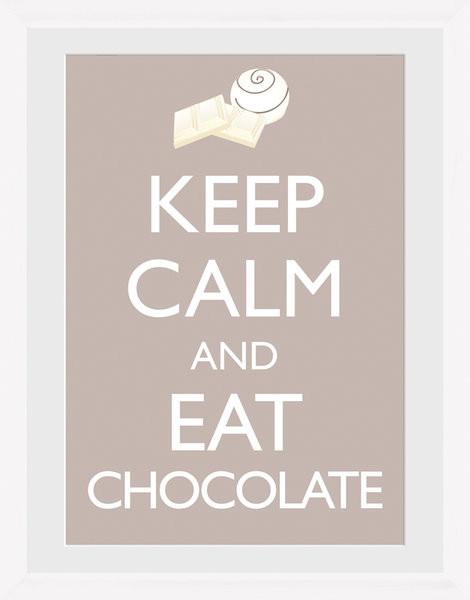 Keep Calm and Eat Chocolate Keretezett Poszter