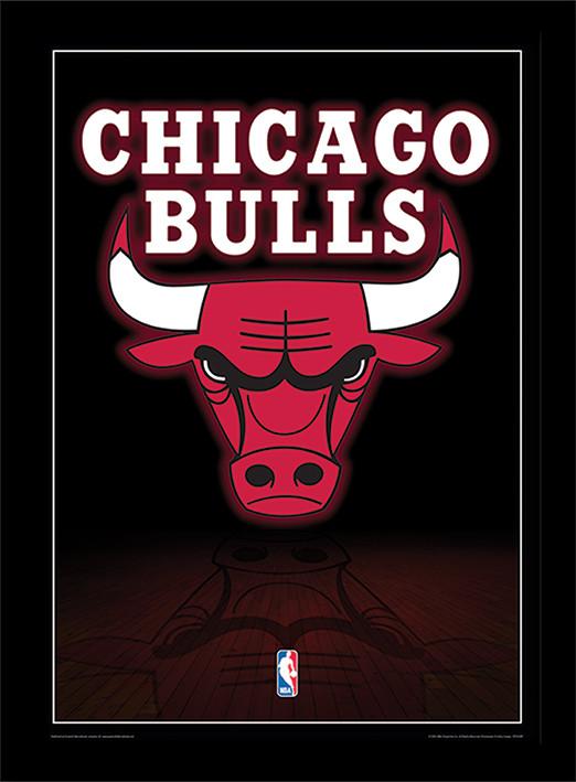 NBA - Chicago Bulls Logo üveg keretes plakát