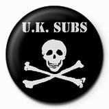 UK SUBS - SKULL  & CROSSBO Insignă