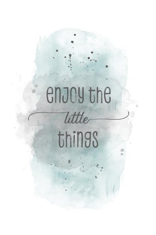 Umjetnička fotografija Enjoy the little things | watercolor turquoise