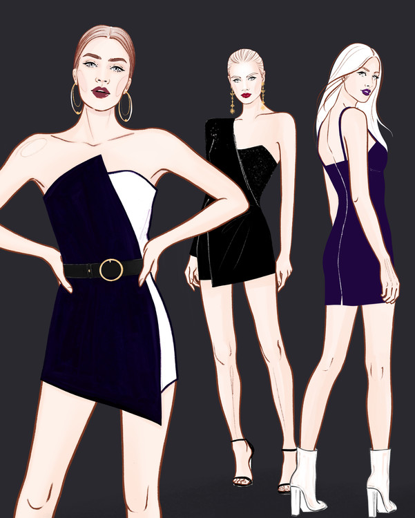 Ilustracija Fashion Girls - 2