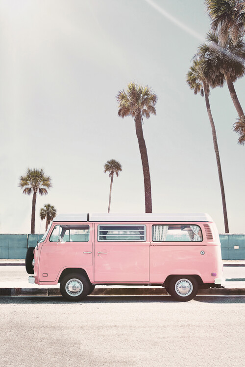 Umjetnička fotografija Pink van