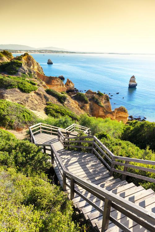 Umjetnička fotografija Stairs to Camilo Beach at Sunset