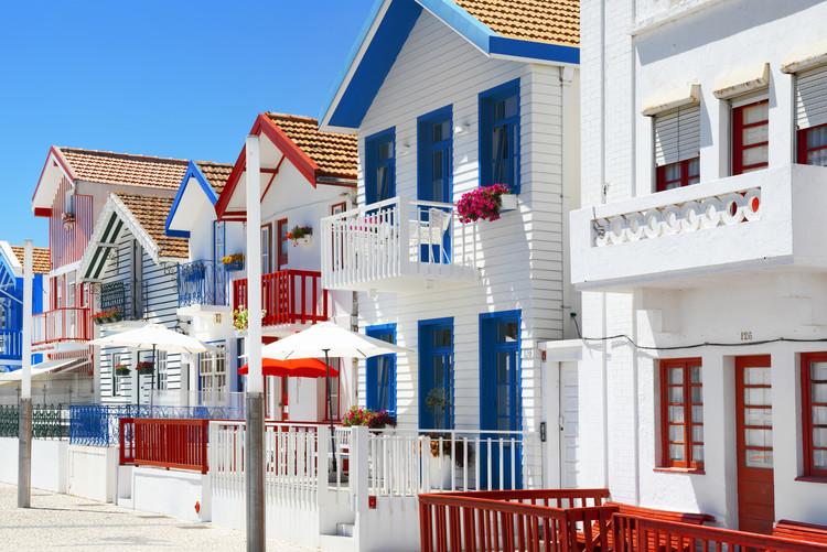 Umjetnička fotografija Typical Houses of Costa Nova