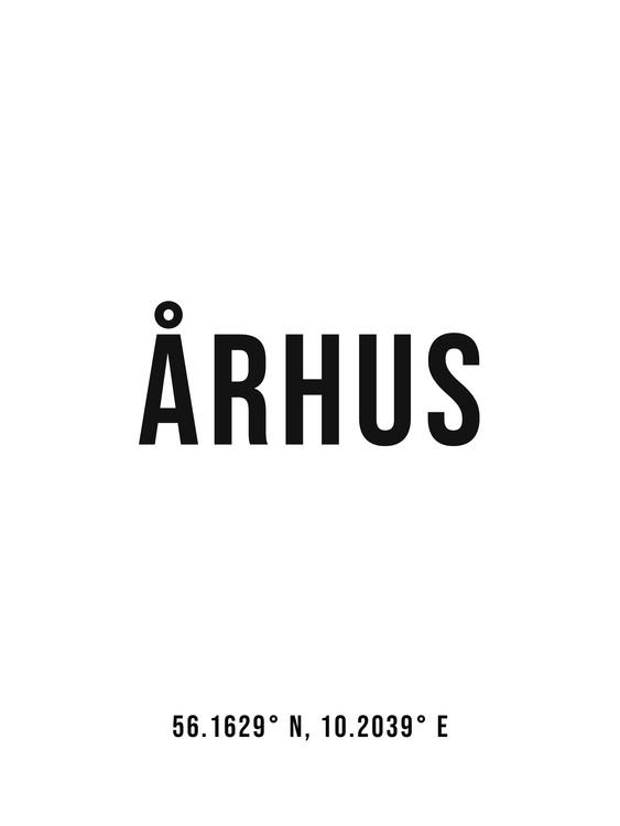 Umjetnička fotografija Aarhus simple coordinates