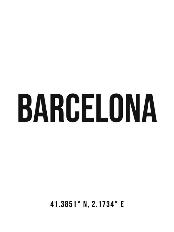 Umjetnička fotografija Barcelona simple coordinates