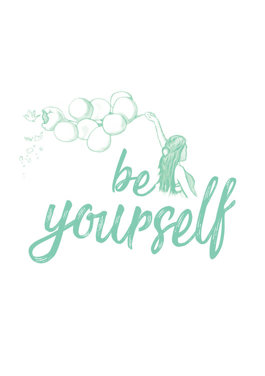 Umjetnička fotografija Be yourself - Blue