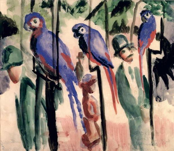 Blue Parrots Reprodukcija umjetnosti