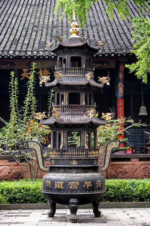 Umjetnička fotografija China 10MKm2 Collection - Brazier and Pagoda
