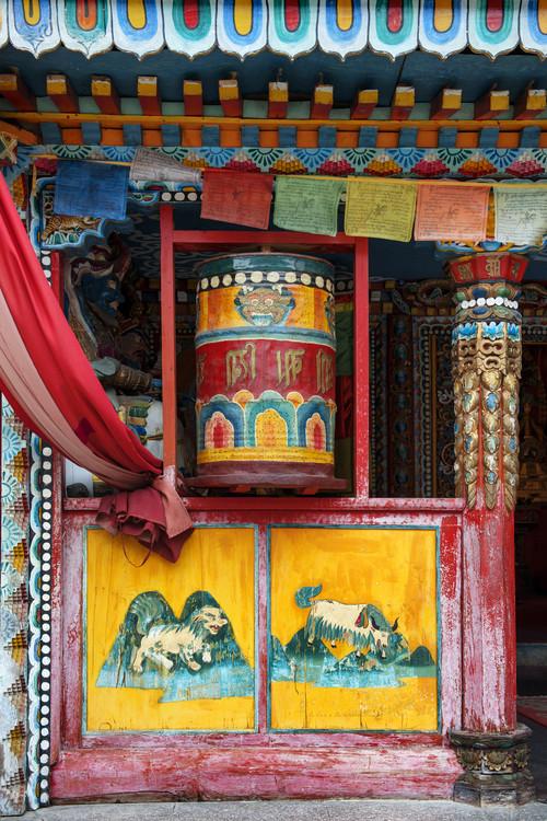 Umjetnička fotografija China 10MKm2 Collection - Buddhist Prayer Wheel