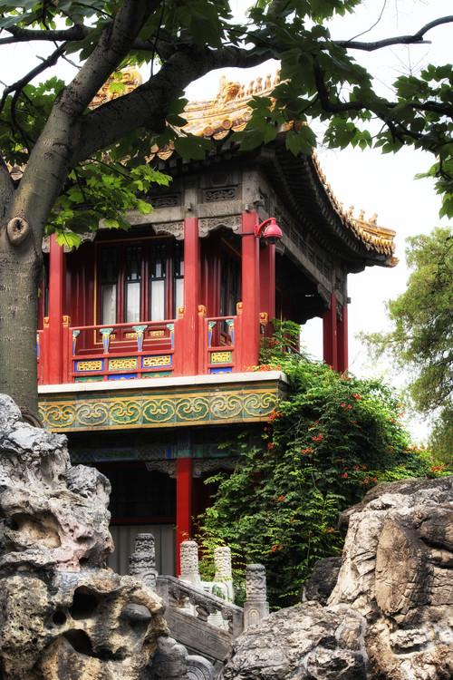 Umjetnička fotografija China 10MKm2 Collection - Red Pavilion