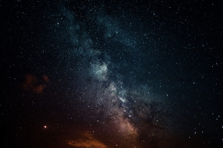 Umjetnička fotografija Details of Milky Way of St-Maria with red-blue graded II