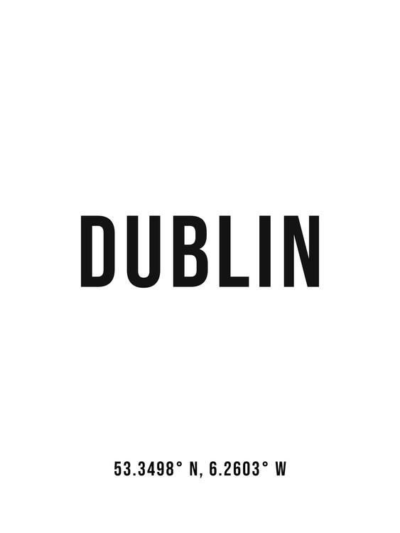 Umjetnička fotografija Dublin simple coordinates