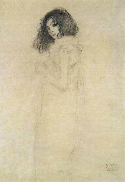 Portrait of a young woman, 1896-97 Reprodukcija umjetnosti