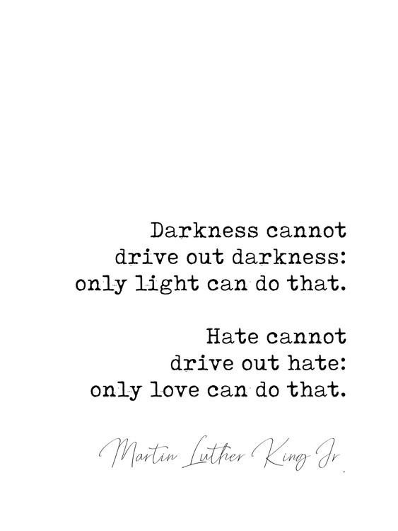 Umjetnička fotografija Quote Luther King jr.