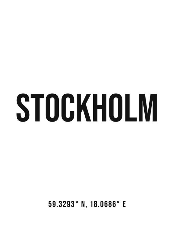Umjetnička fotografija Stockholm simple coordinates